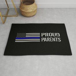 Police: Proud Parents (Thin Blue Line) Rug