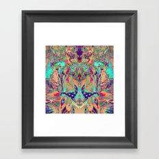 17-44-31 (Patriot Swim Glitch) Framed Art Print