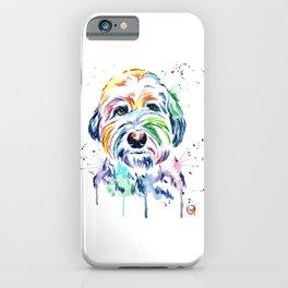 Sheepdog Watercolor Pet Portrait Painting - Gus the Sheepdog iPhone Case