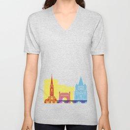Metz skyline pop Unisex V-Neck