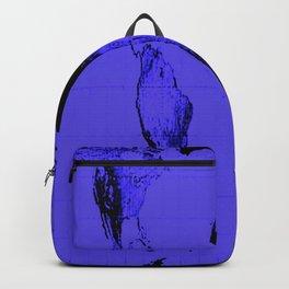 World Map: Gall Peters Indigo Purple Backpack
