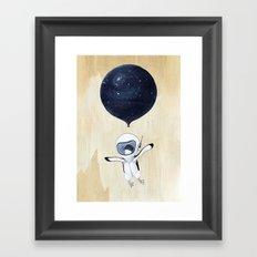 Penguin fly Framed Art Print