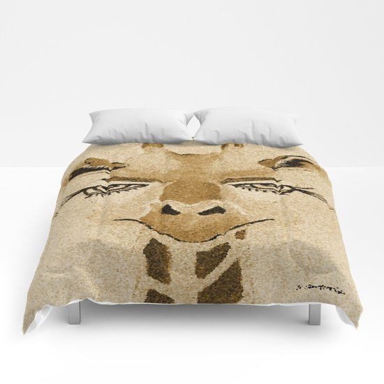 Funny Giraffe Comforters