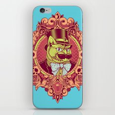 Hipster Mustache Cat iPhone & iPod Skin