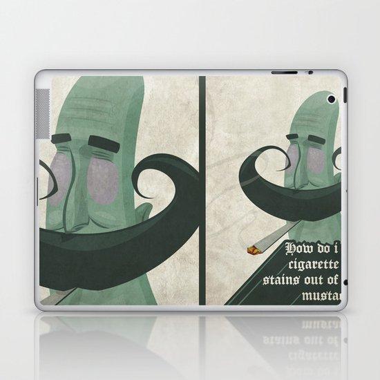 Tar mustache Laptop & iPad Skin
