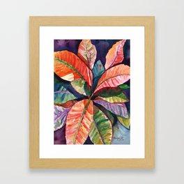 Colorful Tropical Leaves 1 Framed Art Print