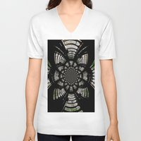 fractal V-neck T-shirts featuring Fractal by Aaron Carberry
