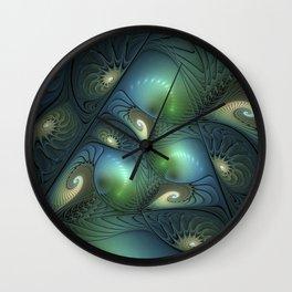 Where Spirals Live Wall Clock