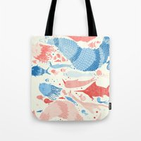 under the sea Tote Bags featuring Under the sea by Matt Saunders