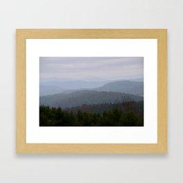 Blue Misty Ridge Framed Art Print