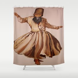 The Remembrance of Allah - A Sufi Whirling Dervish Shower Curtain