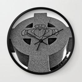 Celtic Cross and Claddagh Wall Clock