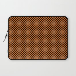 Autumn Maple and Black Polka Dots Laptop Sleeve