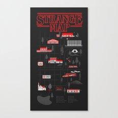 Strange Map Canvas Print
