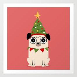 It's Christmas for Pug's Sake Art Print