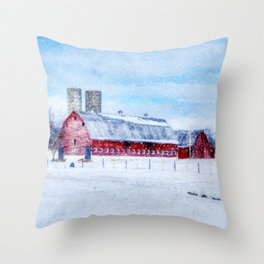 A Snowy Day Throw Pillow