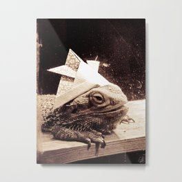 Paper Samurai, Bearded Dragon Metal Print
