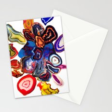 Semi-Precious Agate Burst, Earth's Core Flowers Stationery Cards