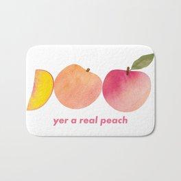 Yer A Real Peach Bath Mat