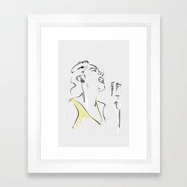 BILLIE Framed Art Print