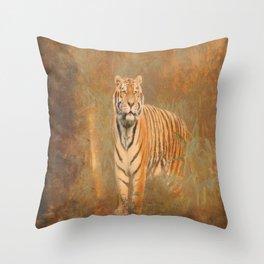 #Tiger #digital #Art #design Throw Pillow