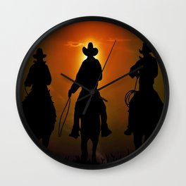 Riders To The West Wall Clock