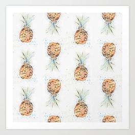 Tropical Pineapple Pattern Art Print