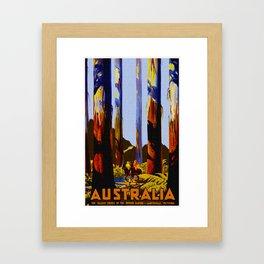 Vintage Australia Travel - Tallest Trees Framed Art Print