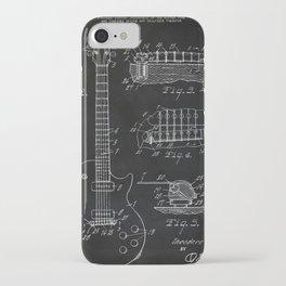 Gibson Guitar Patent Les Paul Vintage Guitar Diagram iPhone Case