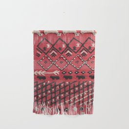 V22 Sheep herd Design Traditional Moroccan Carpet Texture. Wall Hanging
