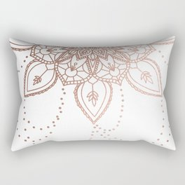 Rose Gold Chain Rectangular Pillow