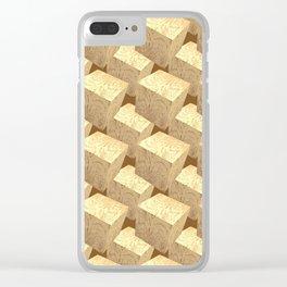 Unwavering_Cubes_Blocks Clear iPhone Case