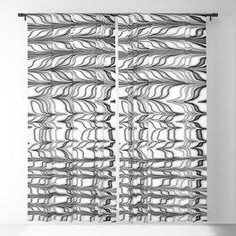black and white ebru Blackout Curtain