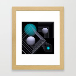 go turquoise -12- Framed Art Print