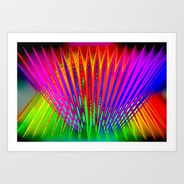 Feathers by light ... Art Print