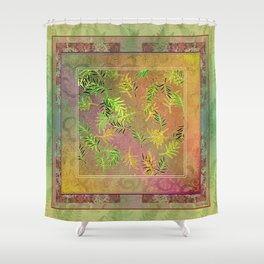 Leaf Scatters 2 Shower Curtain