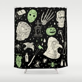Whole Lot More Horror: BLK Ed. Shower Curtain
