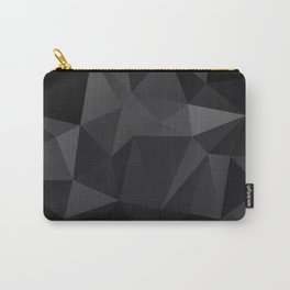 Abstract of triangles polygo in black colors Carry-All Pouch