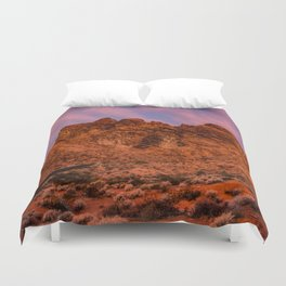 Sunrise Glow - Valley of Fire State Park Duvet Cover