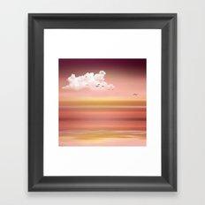 FROM DUSK TO DAWN - a golden sunset Framed Art Print