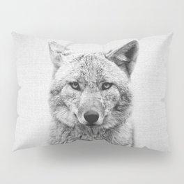 Coyote - Black & White Pillow Sham