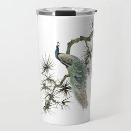 Turquoise Peacock Travel Mug