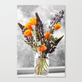 Wildflower Bouquet Photography Print Canvas Print