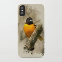 baltimore iPhone & iPod Cases featuring Baltimore Oriole Watercolor Painting by Christina Rollo
