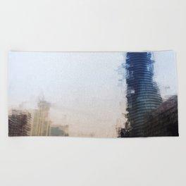 London Abstract Beach Towel