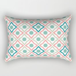Tile Patten Pink and blue Rectangular Pillow