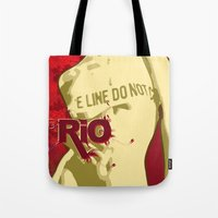 rio Tote Bags featuring RIO by JUSSRAY