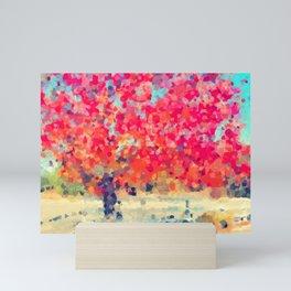 Orange Tree Watercolor digital Mini Art Print