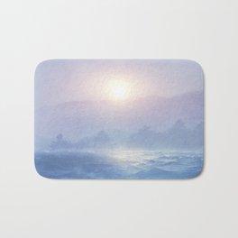 Pastel landscape & sunset Bath Mat