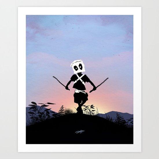 Deapool Kid Art Print